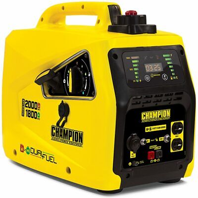 Champion 100402 - 1600 Watt Dual Fuel Inverter Generator W Parallel Capabili...