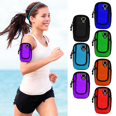 Sports Gym Armband Case Cover Running Jogging Zipper Pouch Holder Bag For -