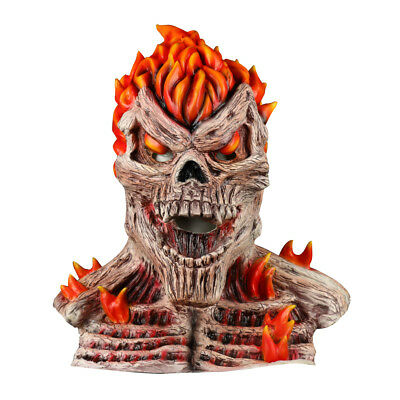 Skull Flame Mask Cosplay Fireman Ghost Rider Mask Halloween Masquerade Prop - Flaming Skull Halloween Mask