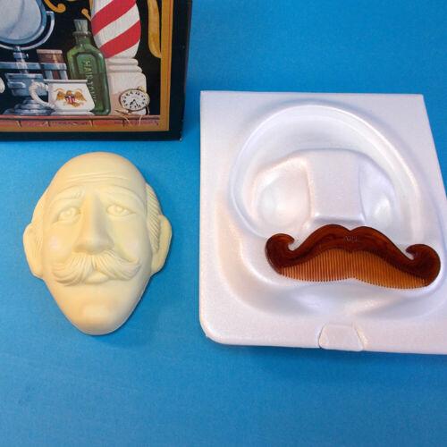 Vtg 70s Avon BARBER SHOP DUET Handlebar Mustache Comb 5oz Wild Country Soap NOS
