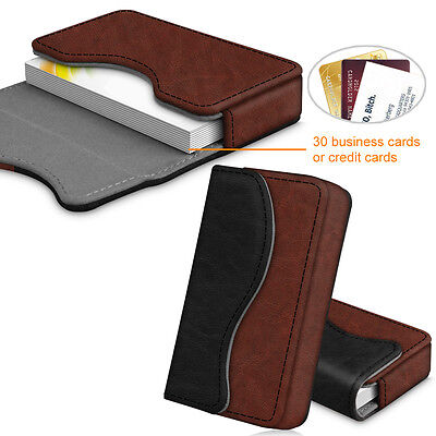 Pu Leather Business Card Holder Name Card Bag Wallet Case Organizer - Dual Color