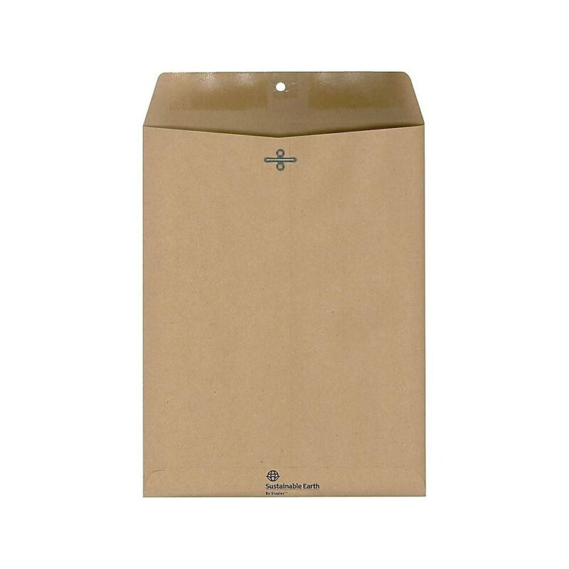 """Sustainable Earth Envelopes 9"""" x 12"""" Natural Brown 100/BX (19964) 884781"""