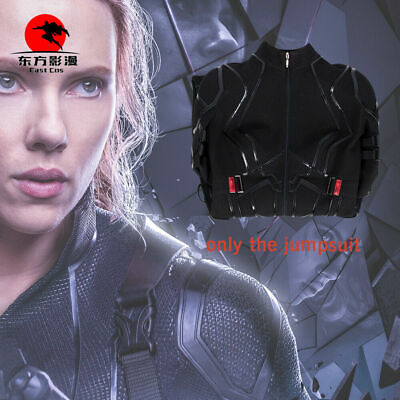 Avengers 4 Black Widow Cosplay Costume Halloween Women Natasha Romanoff Jumpsuit