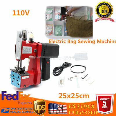 Electric Bag Sewing Machine Sealing Machines Portable 110V Sack Closer US