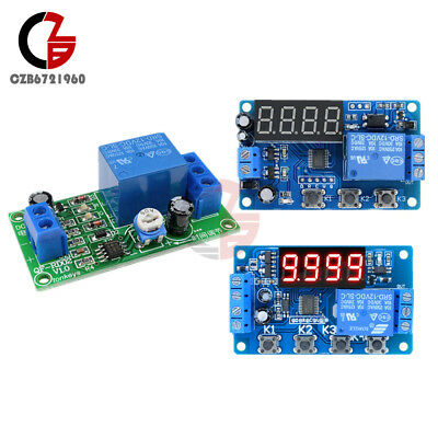 Dc12v 34-digital Led Trigger Cycle Delay Timer Control Automation Relay Module