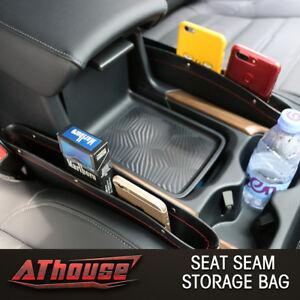 2x Leather Interior Seat Seam Bag Storage Organizer Holders Phone Accessory Coin
