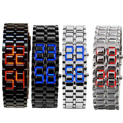 Lava Style Iron Watch Bracelet Inspired LED Digital Sport Wrist Watch Fashion Bracelet Style Wrist Watch