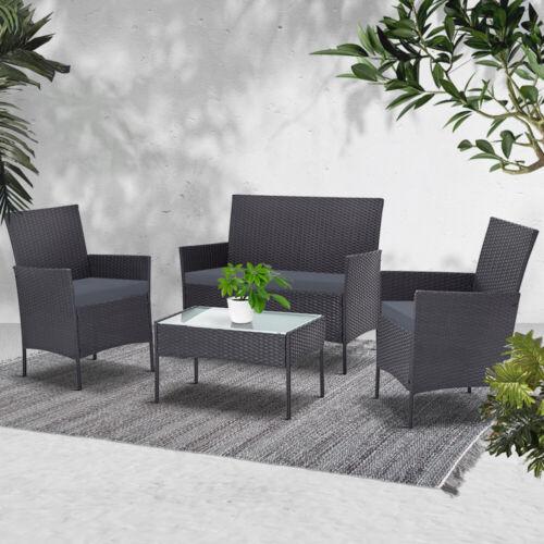 Garden Furniture - Gardeon Garden Furniture Outdoor Lounge Setting Wicker Set Patio Chairs Table