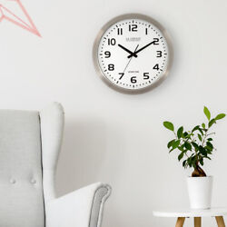 La Crosse Technology WT-3161WH 16 in. Atomic Analog Wall Clock 4 Time Zone