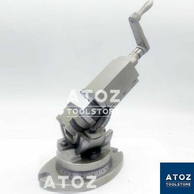2 50mm Precision Milling Vise 3 Way Swivel Base Tilting Vice Milling Machine