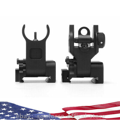 Flip Up Front Rear Iron Sight Set Rapid Transition for Mil Spec Low Profile BUIS