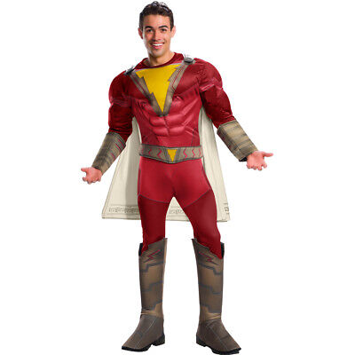 Mens Adult Halloween Costume (Mens Shazam Deluxe Shazam Adult Halloween)