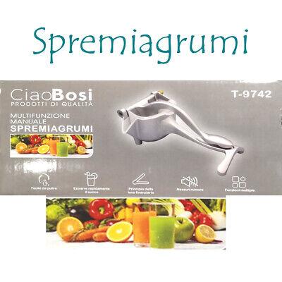 Spremiagrumi Manuale multifunzione a Leva Alluminio e Acciaio Spremi Frutta