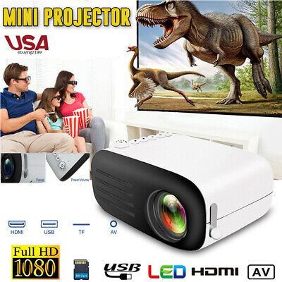 Mini Portable LED YG200 Projector Full HD 1080P LCD Theater Cinema USB HDMI