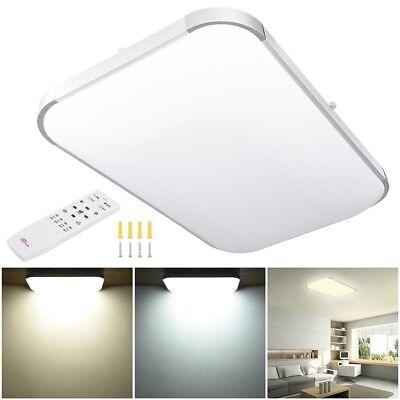 48 Watts Rectangle Flush Mount Dimming LED Ceiling Light Remote 5280-6240LM - Flush Mount Remote