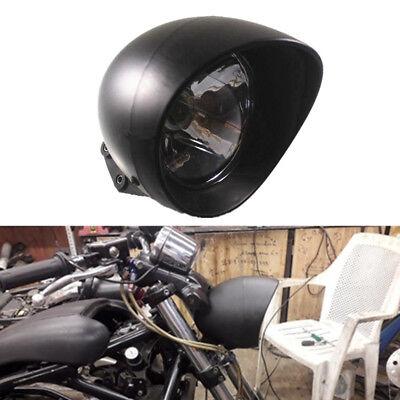 Bullet Headlamp - Motorcycle Black Front Bullet Headlight For Harley Cruise Honda Steed Shadow