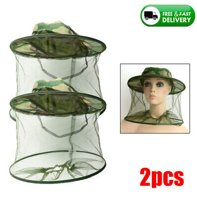 2pcs Beekeeping Garden Guard Cowboy Hat Anti Mosquito Bee Insect Bug Head Veil