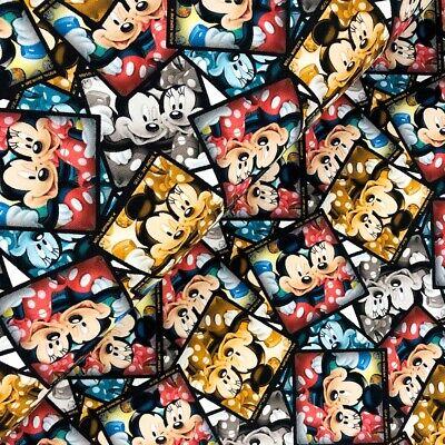 Disney Jersey Many Faces of Mickey Kinderstoff Meterware 0,5m