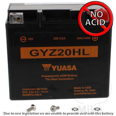 YUASA BATTERY GYZ20HL FOR KYMCO MXU 700 I 4X4 LOF 2015