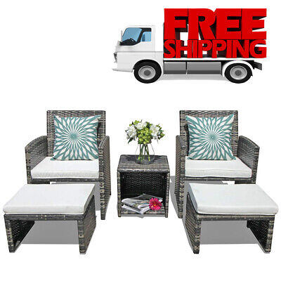Ottoman Outdoor Patio Furniture - Patio Furniture Sets Clearance Outdoor Garden Rattan Wicker Chair With Ottoman
