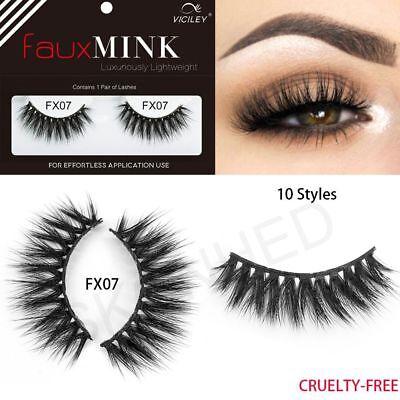 3D False Eyelashes Fake Mink Lashes Soft Long Full Strips Makeup Eye Tool 1 Pair