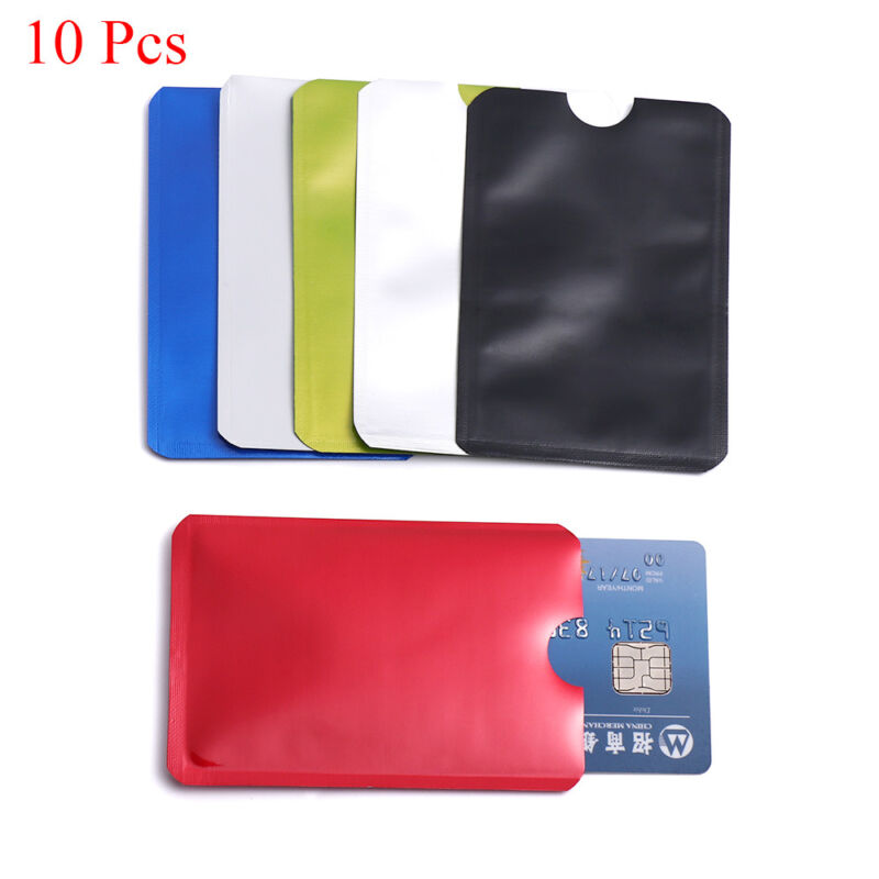 10 Pcs Anti-theft Card Holder RFID Blocking Sleeve Wallet Protect Case Covers