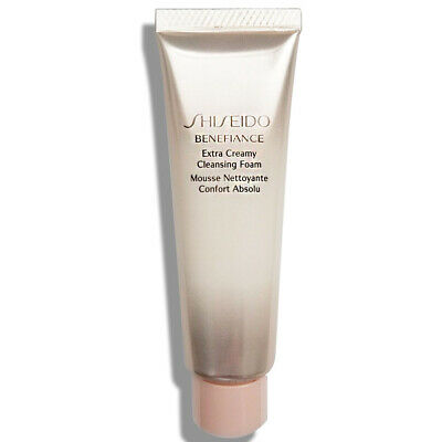 Shiseido Benefiance Extra Creamy Cleansing Foam 30ml [Travel] Free USA Shipping