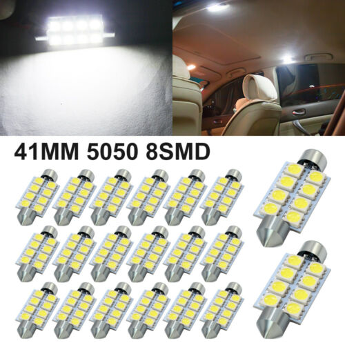 2x White 5050 4SMD Canbus LED Light Bulbs For Interior Map Dome Read Rear Mirror