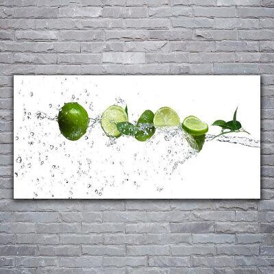 Tulup Imagen en vidrio Impresión Cuadro de 120x60 Agua lima Cocina