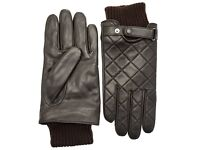 Barbour Brown Quilted Leather Gloves