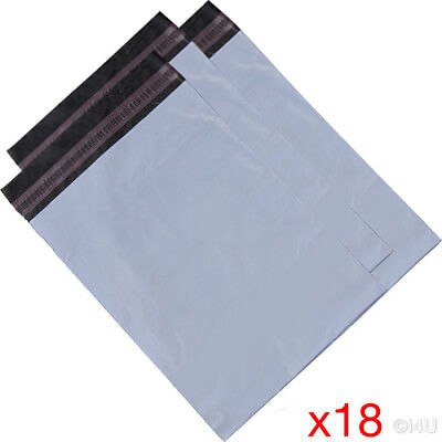 18 X MAILING BAG POSTAL MAILERS PACKAGE SHIPPING STRONG POLY MAIL BAG POST SACK