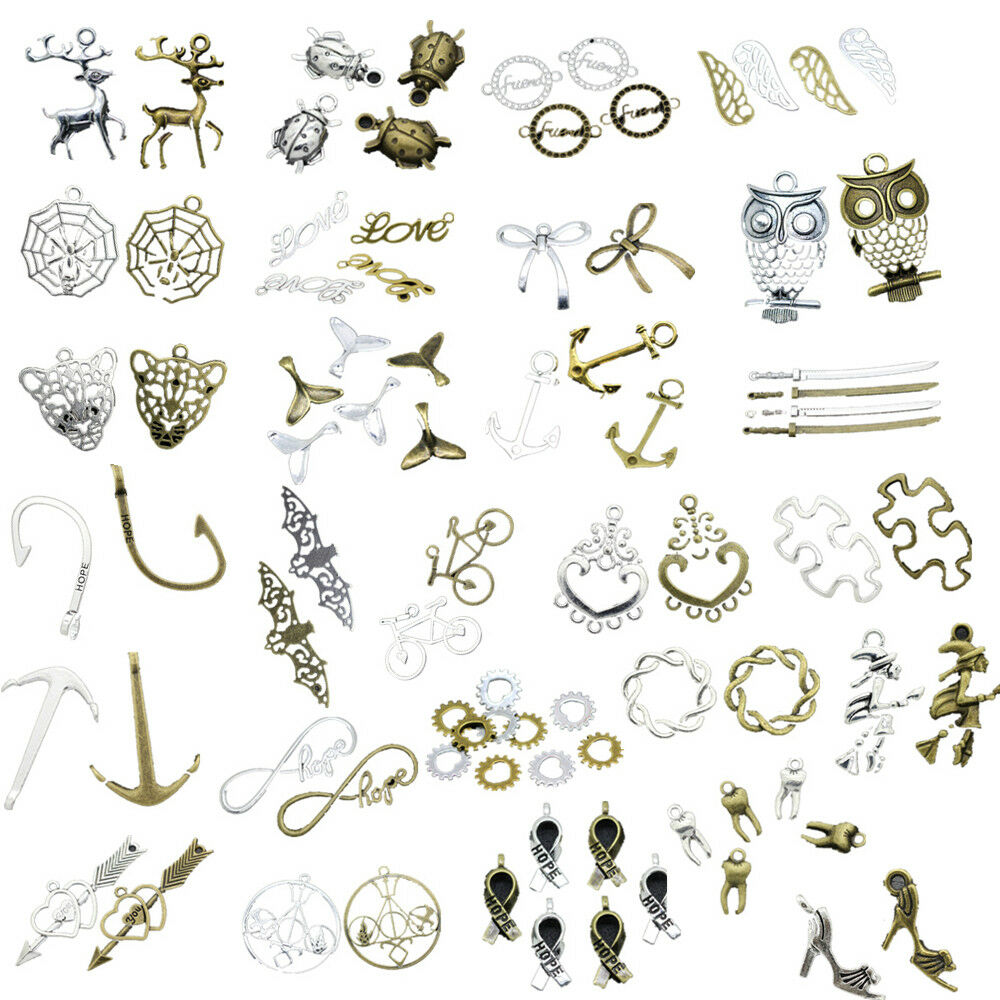 Tibetan Silver Charms Jewelry Making Connector Cameo Cabocho
