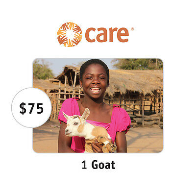 CARE $75 One Goat Symbolic Charitable Donation