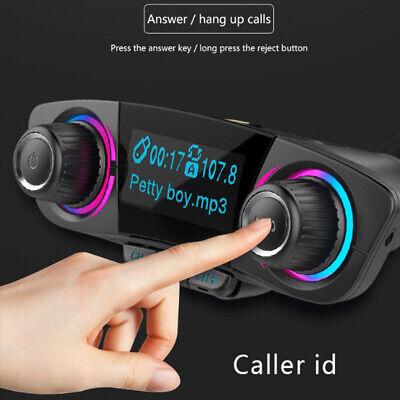 Bluetooth5.0 Car FM Transmitter MP3 Player Hands free Radio Adapter Kit Dual USB