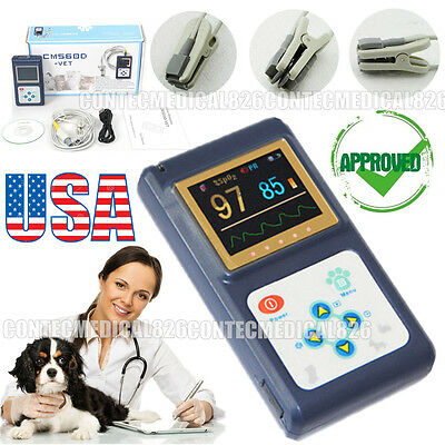 Us Stock Color Veterinary Pulse Oximeter Vet Spo2 Tongue Sensorsoftwarenew