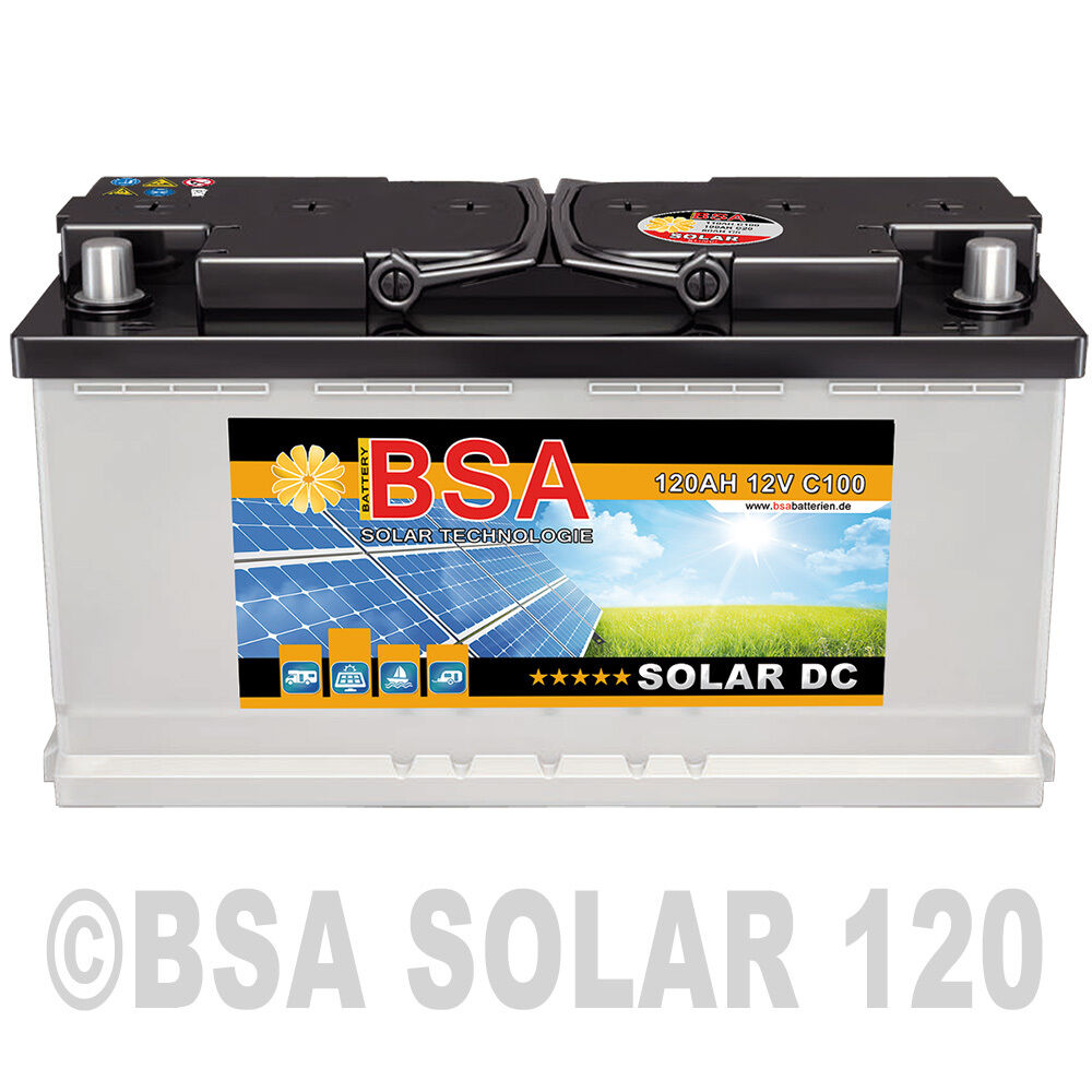 nrg solar 120ah 12v usv wohnmobil antrieb versorgung. Black Bedroom Furniture Sets. Home Design Ideas