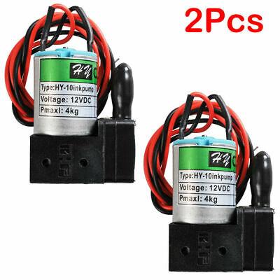2pcs Small Ink Pump For Sino Wide Format Printers Dc12v 3w 100mlmin