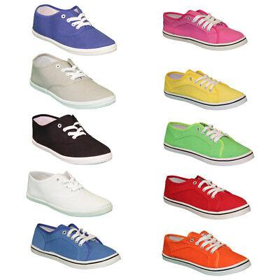 Damen Leinen Sneaker Turnschuhe Freizeitschuhe Textil Turnschuhe Schuhe 36 - 41