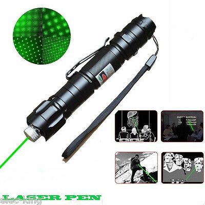 ✓ Powerful Military 5 Miles 532nm Green Laser Pointer Pen Visible Beam Star Cap on Rummage