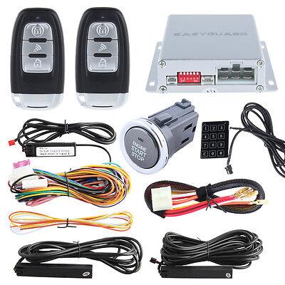 EASYGUARD Smart Keyless entry car alarm system remote engine starter push button