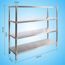 New STAINLESS STEEL Kitchen Shelving with 4 displaying shelf Richlands Brisbane South West Preview