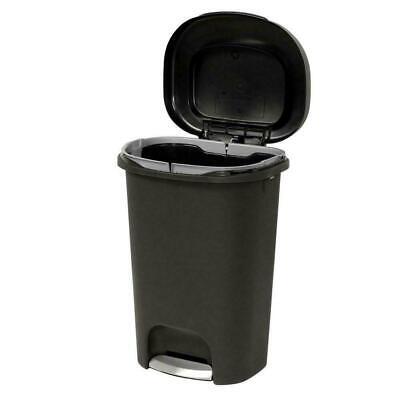 Rubbermaid 13 Gal. Black Step-On Indoor Kitchen Waste Trash Can Liner lock