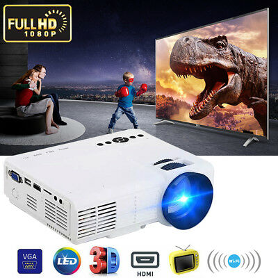 HDMI Mini Projector LED Home Theater Beamer Multimedia Player for Smartphone