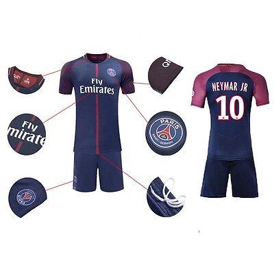 17/18 Football Soccer Kids Team Suit Short Sleeve Paris Neymar Jersey 10# 3-14th