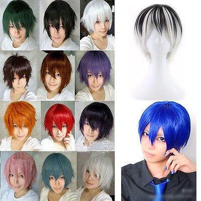 Sexy Short Hair Full Wigs Multi-color Cosplay Costume Fashion Anime Party Hair](Colorful Wigs)