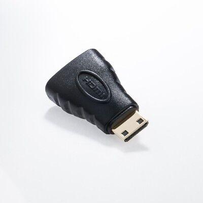 HDMI auf mini HDMI Adapter Typ A Buchse zu Typ C Stecker vergoldet
