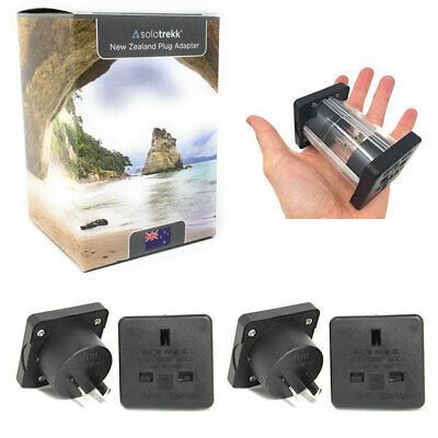 4 x UK to New Zealand Travel Plug Adapters | Socket Converter Adaptor Solotrekk