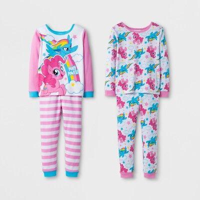 Mlp Pajamas (NEW My Little Pony Toddler Girls' 4pc Pajama Set (2 Sleepwear Sets) - 2T -)