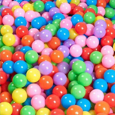 100pcs Quality Secure Baby Kid Pit Toy Swim Fun Colorful Soft Plastic Ocean Ball