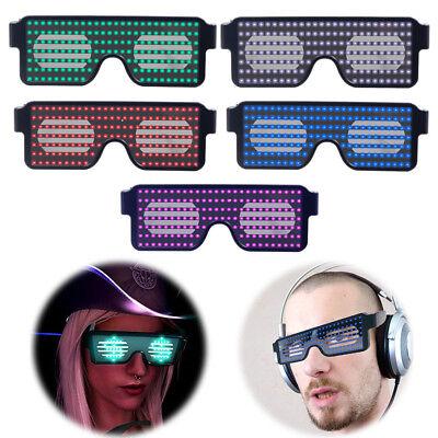 Neon LED Light Up Shutter EL Wire Glasses Glow Frame Dance Party Nightclub - Glasses Led Light